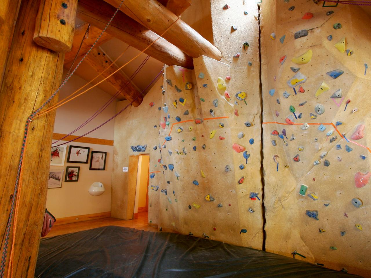 World-class climbing wall located in the Guides Haus at Mike Wiegele Heli-skiing Resort.