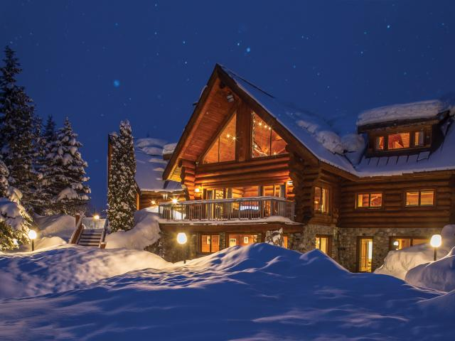 The Bavarian Estate offers private ski luxury at Mike Wiegele Heli-Skiing Resort in Canada.